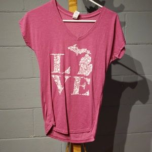 anvil love michigan shirt size small